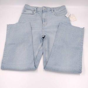Free People Raw Hem Straight Leg Jeans